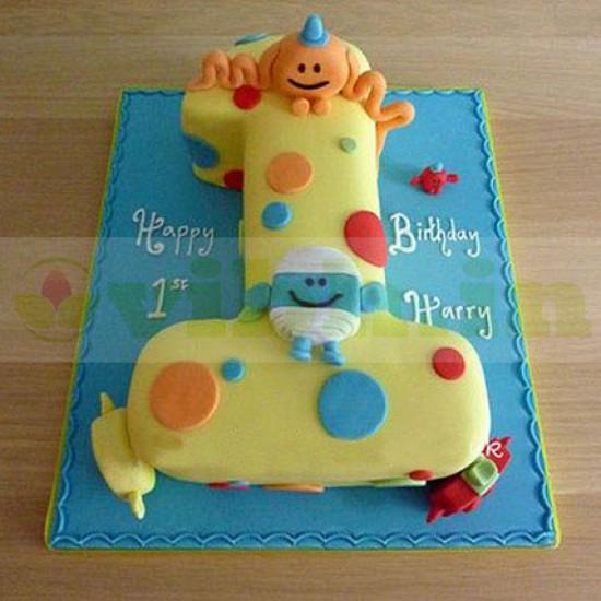 Incredible Send Happy Birthday Toddler Fondant Cake To Faridabad From Vibh Funny Birthday Cards Online Elaedamsfinfo
