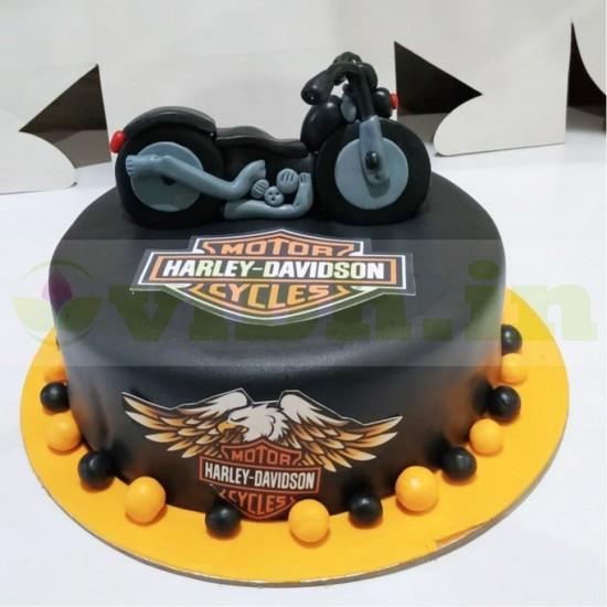 Amazing Send Harley Davidson Themed Cake To Faridabad From Vibh Faridabad Funny Birthday Cards Online Necthendildamsfinfo
